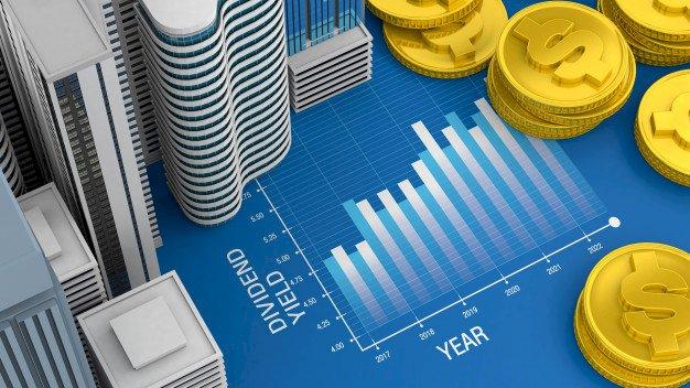 Gráfico de rendimentos em um ano